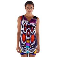 Nibiru Power Up Wrap Front Bodycon Dress