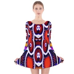 Nibiru Power Up Long Sleeve Velvet Skater Dress