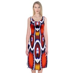 Nibiru Power Up Midi Sleeveless Dress