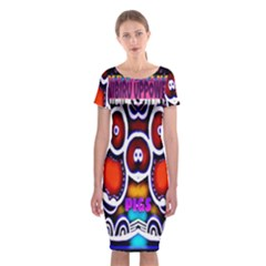 Nibiru Power Up Classic Short Sleeve Midi Dress