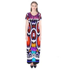 Nibiru Power Up Short Sleeve Maxi Dress