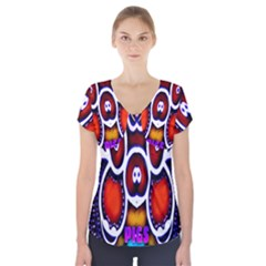 Nibiru Power Up Short Sleeve Front Detail Top