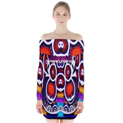 Nibiru Power Up Long Sleeve Off Shoulder Dress