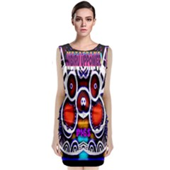 Nibiru Power Up Sleeveless Velvet Midi Dress