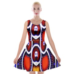 Nibiru Power Up Velvet Skater Dress