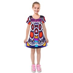 Nibiru Power Up Kids  Short Sleeve Velvet Dress