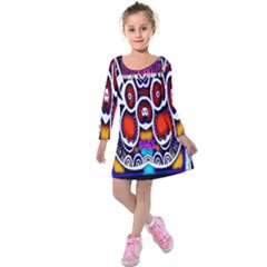 Nibiru Power Up Kids  Long Sleeve Velvet Dress