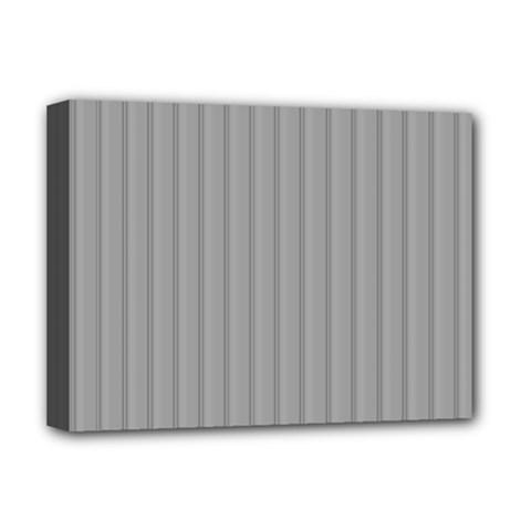 Metal Dark Grey Deluxe Canvas 16  x 12