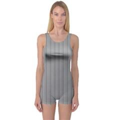 Metal Dark Grey One Piece Boyleg Swimsuit