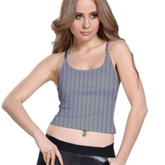 Metal Dark Grey Spaghetti Strap Bra Top