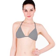 Metal Dark Grey Bikini Top