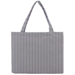 Metal Dark Grey Mini Tote Bag