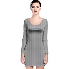 Metal Dark Grey Long Sleeve Velvet Bodycon Dress