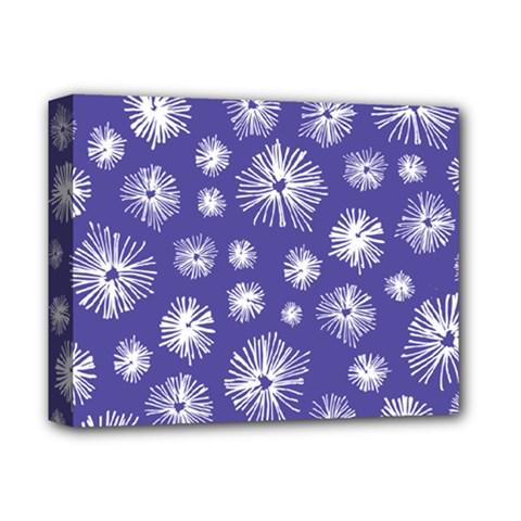 Aztec Lilac Love Lies Flower Blue Deluxe Canvas 14  x 11