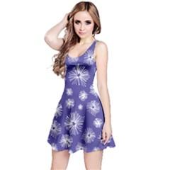 Aztec Lilac Love Lies Flower Blue Reversible Sleeveless Dress