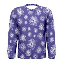 Aztec Lilac Love Lies Flower Blue Men s Long Sleeve Tee