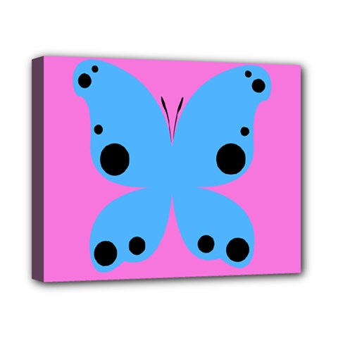 Pink Blue Butterfly Animals Fly Canvas 10  x 8