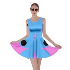 Pink Blue Butterfly Animals Fly Skater Dress