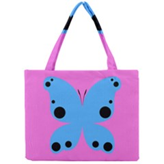 Pink Blue Butterfly Animals Fly Mini Tote Bag