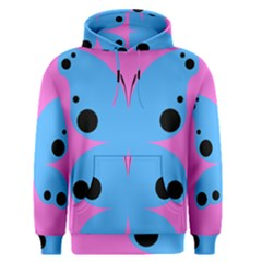Pink Blue Butterfly Animals Fly Men s Pullover Hoodie