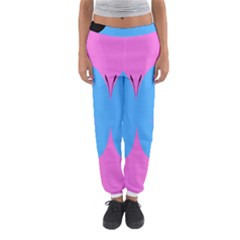Pink Blue Butterfly Animals Fly Women s Jogger Sweatpants