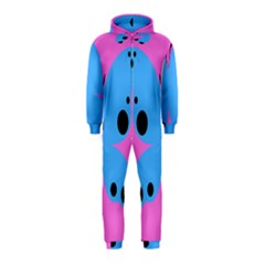 Pink Blue Butterfly Animals Fly Hooded Jumpsuit (Kids)