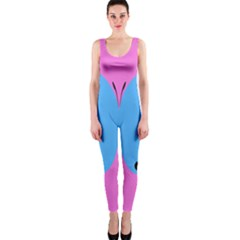 Pink Blue Butterfly Animals Fly OnePiece Catsuit