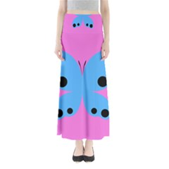 Pink Blue Butterfly Animals Fly Maxi Skirts