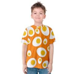 Orange Circle Egg Kids  Cotton Tee