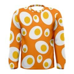 Orange Circle Egg Men s Long Sleeve Tee