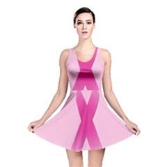 Pink Breast Cancer Symptoms Sign Reversible Skater Dress