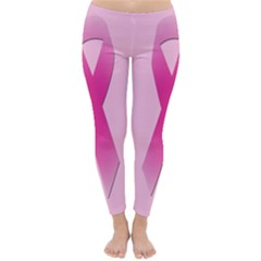 Pink Breast Cancer Symptoms Sign Classic Winter Leggings