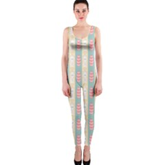 Rabbit Eggs Animals Pink Yellow White Rd Blue OnePiece Catsuit