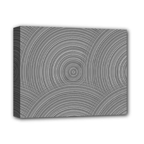 Circular Brushed Metal Bump Grey Deluxe Canvas 14  x 11