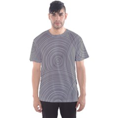 Circular Brushed Metal Bump Grey Men s Sport Mesh Tee