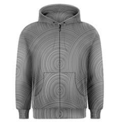 Circular Brushed Metal Bump Grey Men s Zipper Hoodie