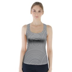 Circular Brushed Metal Bump Grey Racer Back Sports Top