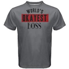 World s Okayest Boss   Men s Cotton Tee