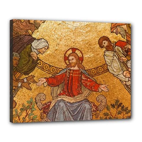 Gold Jesus Canvas 20  x 16