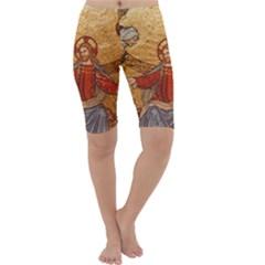 Gold Jesus Cropped Leggings