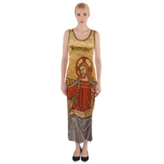 Gold Jesus Fitted Maxi Dress