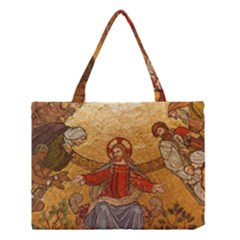 Gold Jesus Medium Tote Bag