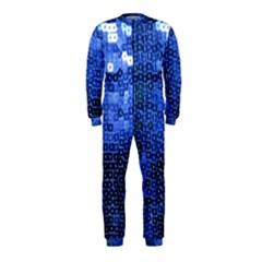 Blue Sequins OnePiece Jumpsuit (Kids)