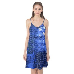 Blue Sequins Camis Nightgown