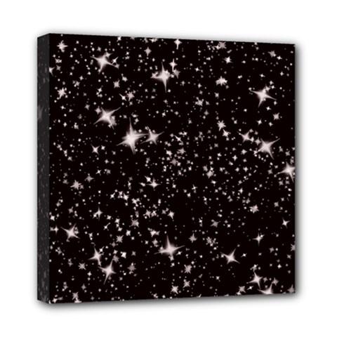 Black Stars Mini Canvas 8  x 8