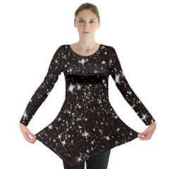 Black Stars Long Sleeve Tunic