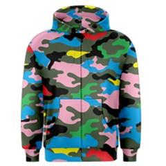 Rainbow Camouflage Men s Zipper Hoodie