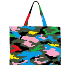 Rainbow Camouflage Large Tote Bag