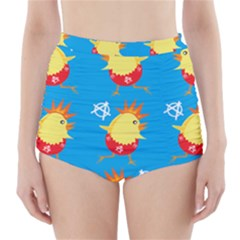 Easter Chick High-Waisted Bikini Bottoms