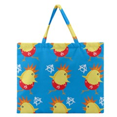Easter Chick Zipper Large Tote Bag